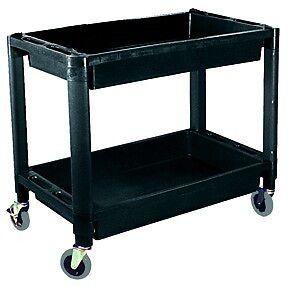 "ATD Heavy Duty Plastic 2-Shelf Utility Cart 16"" W x 30"" L  ATD 7016   FAST SHIP!"