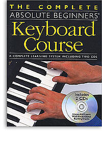 Complete Absolute Beginners Keyboard Course Learn to Play Lesson Music Book & CD
