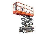 scissor lift 110v self driven platform for hire Prices From £62.50