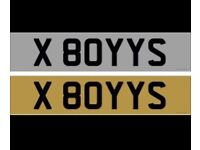 X80YYS Cherished Registration, Ideal Boys Private Plate On retention/all fees paid