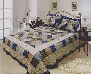 Brand new, Handcrafted patchwork cotton quilts on sale