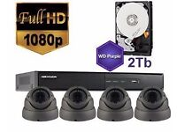 4 Professional Full HD 1080p CCTV Cameras Kit Supply and Installation 2 Year Warranty