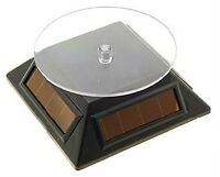 Solar Power Turntable Product Display Black (New)
