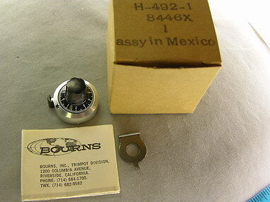 """Bourns H-492-1 30 Turns Counting Dial for 3/32"""" Shaft Obsolete Hard To Find"""