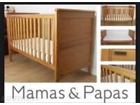 Mamas & Papas Cot Bed for Sale (excluding mattress)