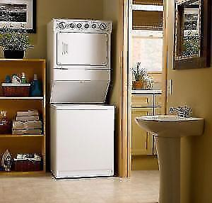 WASHER DRYER STACKED LAUNDRY CENTRE 15% OFF FULL WARRANTY DELIVERY INSTALLATION only UNTIL JANUARY 22ND!!