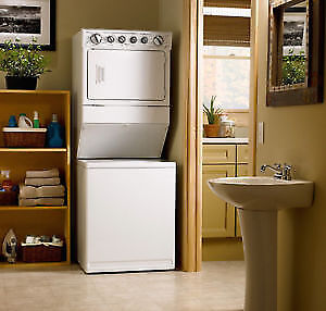 STACKABLE WASHER DRYER LAUNDRY CENTRE 27'' & 24 DELIVERY INSTALL