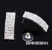 Silver Diamante Stud Earrings