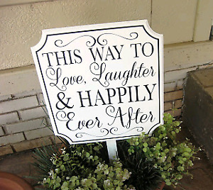 This way sign - wedding