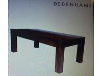 Coffee table - Debenhams Mango wood new boxed