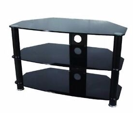 """Black Glass 42"""" TV Stand in Excellent condition on 6 months old"""
