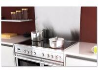 NEW Rangecookers Select 100 brushed stainless steel splashback