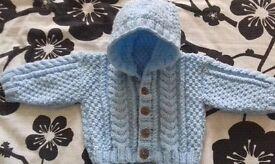 Brand new baby aran hooded jacket