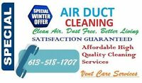Professional Duct Cleaning for only $139.99