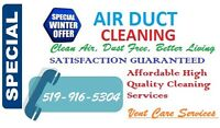 Vent Care Services Special Winter Offer $139.99 for Whole House