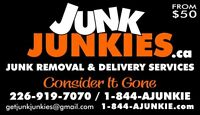 Junk, rubbish, garbage removal an delivery/estate service.