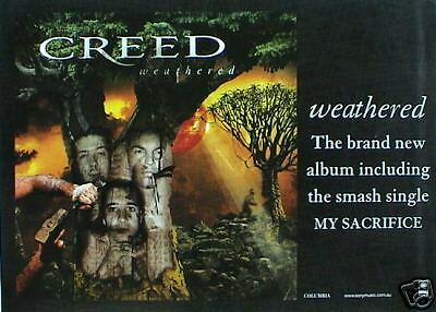 "CREED ""WEATHERED"" AUSTRALIAN PROMO POSTER -ALTER BRIDGE"
