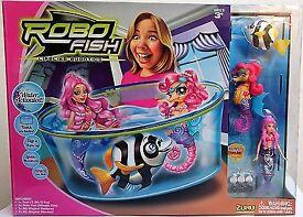 Zuru Robo Fish Girls playset with tank Mermaid Seahorse Fish & extra batteries BRAND NEW BOXED