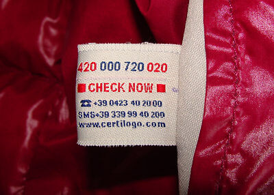 It is always 4 sets of 3 numbers in the colors RED BLUE BLUE RED with a small gap between each set of 3. The certilogo tag in an authentic Moncler will look ...