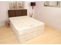 4ft6 Double Deep Quilt Divan Bed with Mattress - FREE Next Day Delivery Essex & London!