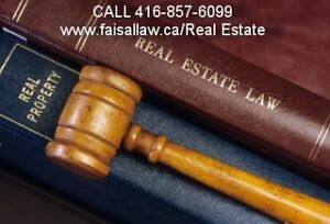 Real Estate Lawyer All kind of transaction matters) 416-857-6099