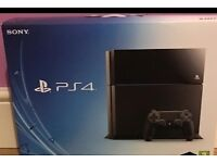 Ps4 console boxed , warranty £160