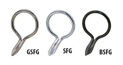 GSFG - AMERICAN TACKLE SINGLE FOOT WIRE FLY GUIDES IN TICHROME COLOR 1 PER ORDER ()