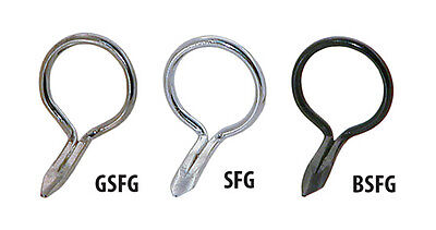 BSFG - AMERICAN TACKLE SINGLE FOOT WIRE FLY GUIDES IN BLACK CHROME ()