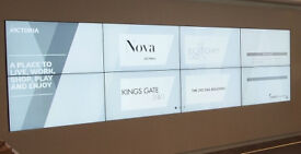 Giant Video Wall Display: flexible shape upto 5.75 square metres