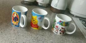 Three cartoon character Mugs