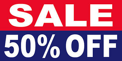 Sale 50 Off Vinyl Banner Clearance Promotion Sign 2x4 Ft - Rb