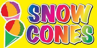 12x6 Decal Sticker - Snow Cones Food Truck Restaurant Store Sign Yb