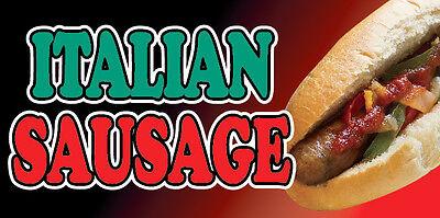 2, 3, 4, 6, 8, 10, 12, 15, 20' ITALIAN SAUSAGE Vinyl Banner Sandwich Food Sign