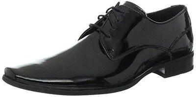 Calvin Klein Mens Brodie Dress Tuxedo Oxford Shoes Black Patent Size 11M