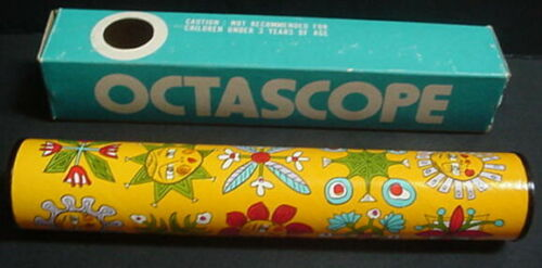 Vintage Octascope Ikecho JAPAN in BOX No. 66 M Optic Kaleidoscope Prism Toy MOD