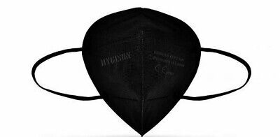 10x HYGISUN Atemschutzmasken FFP2 Maske schwarz (10 Stück) Mundschutz FFP 2