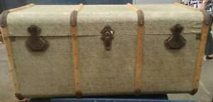 TWO ANTIQUE TRUNKS