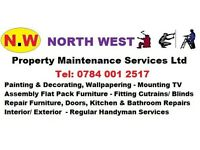 N.W Ltd Handyman Services Assembly IKEA Furniture Painting Decorating Repairs Hang Blind Curtains TV