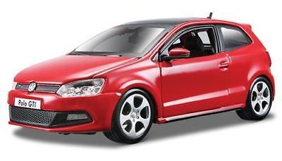 Volkswagen Polo Gti 1.4 Tsi 2010 Red Burago 1:24 BU21059R, używany na sprzedaż  Wysyłka do Poland