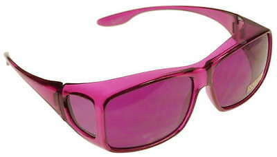 Medium Fits Over Magenta Color Therapy Glasses Poker Sunglasses Mens Womens