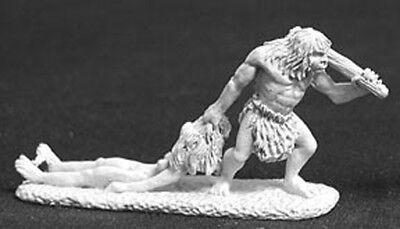 Reaper Miniatures Caveman & Girlfriend #02387 Dark Heaven Unpainted Metal](Girl Caveman)