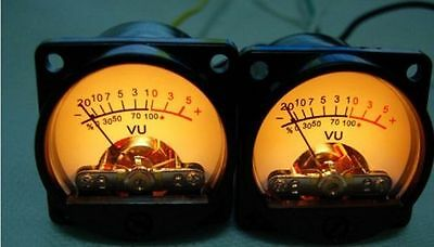 2pcs 39 Type 500vu Vu Meter Db Table Power Meter Built-in 6-12v Bulb Amp