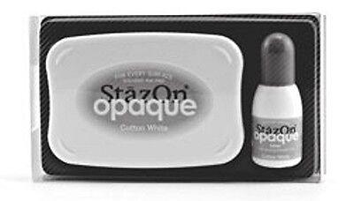 Stempelkissen StazOn opaque Cotton white Stempelfarbe wasserfest permanent SZ110