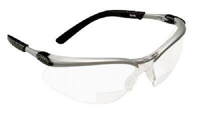 3M Reader's Safety Glasses,+1.5 Diopter, Clear Lens Bifocal lens, New - M Reader