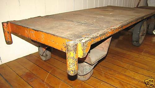 Wood & Iron Railroad Cart with Handle (3425)
