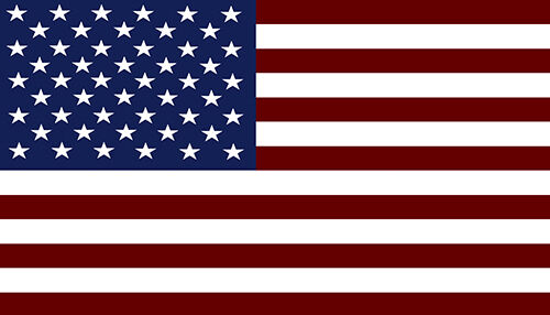 American Flag USA America Adhesive Vinyl Sticker Decal 4x7inch