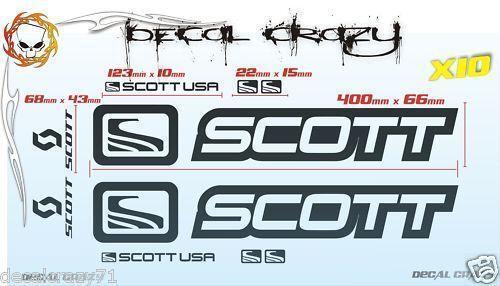 Scott Mountain Bike Stickers Ebay