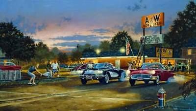 "Dave Barnhouse "" Sunset Strip ""Master Canvas #77 /195 W/CERT Rare Mint"
