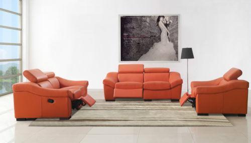 Orange Leather Sectional: Sofas, Loveseats U0026 Chaises | EBay