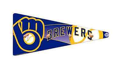 MILWAUKEE BREWERS Coat Rack Baseball Pennant Wood Man Cave New Great (Pennant Coat Rack)